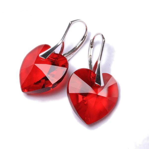 ... Náušnice Swarovski Elements - Srdce červené 18mm 1 2 ... ce9322d01e8