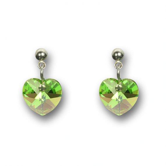 ... Náušnice Swarovski Elements - Srdce zelené 1 2 ... 0327a9dc94f