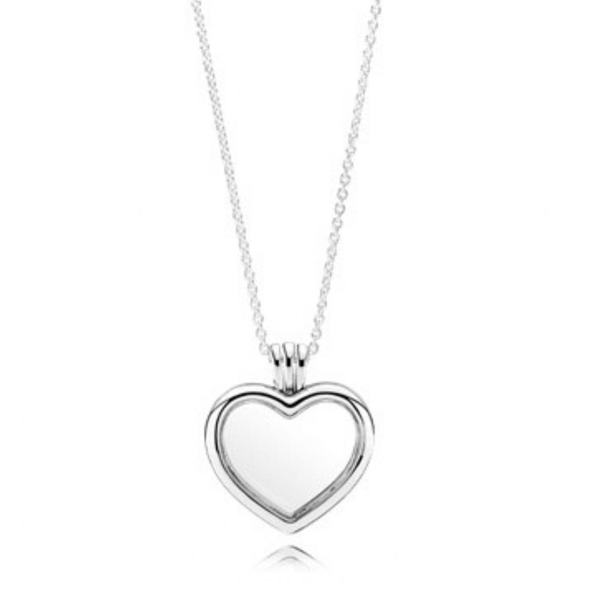 ... Stříbrný náhrdelník Pandora s medailonem - Srdce 1 4 ... 25ab48d6c14