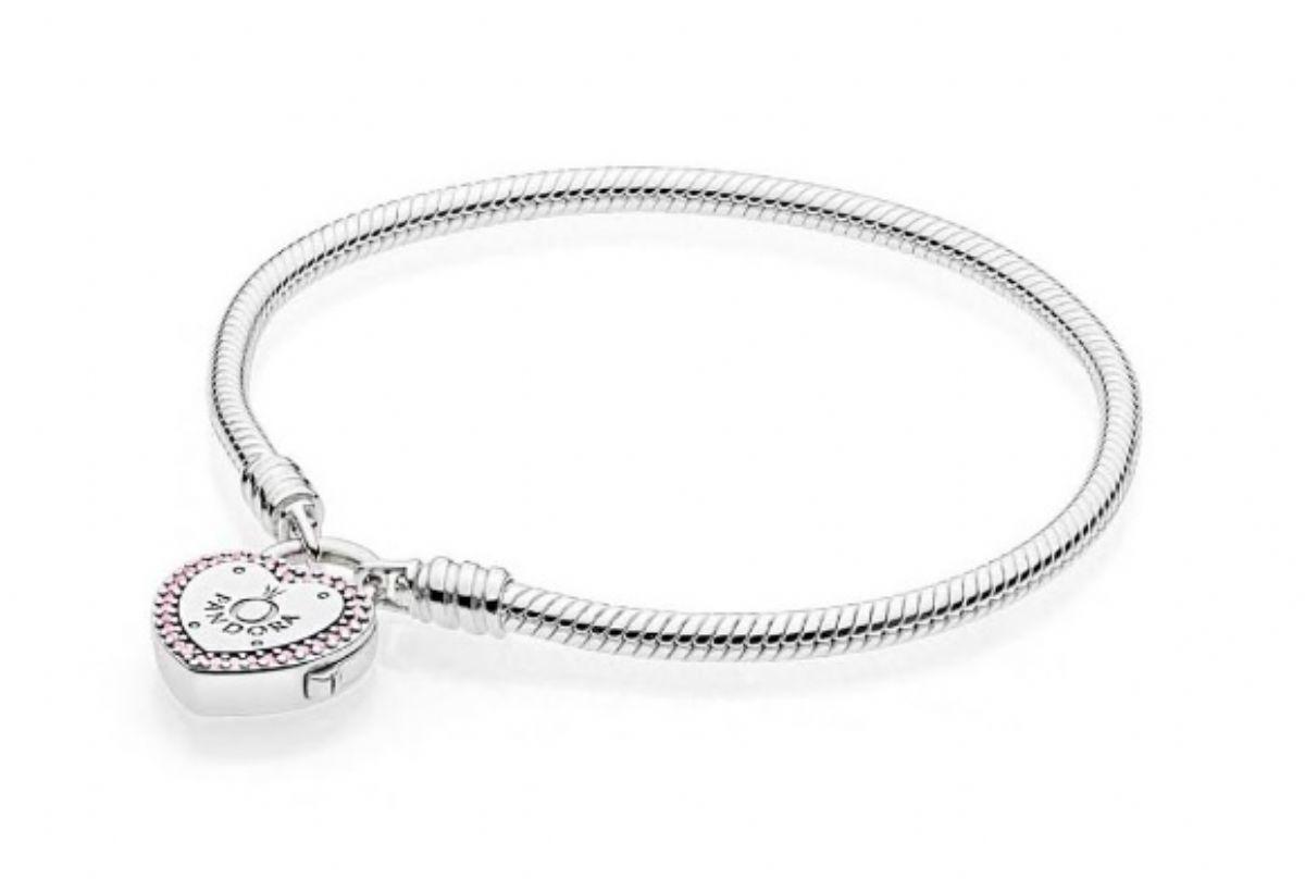 ... Stříbrný náramek Pandora - Zamkni svůj slib 1 4 ... 5bb998f390b