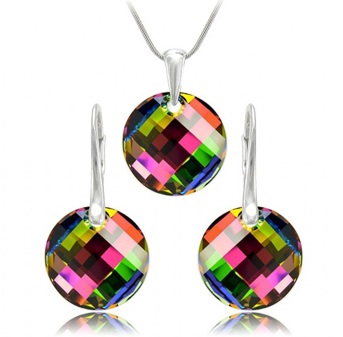 Stříbrný set Swarovski - Twist Vitral Medium 1/5