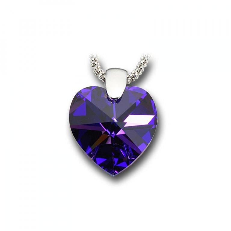 ... Swarovski stříbrný náhrdelník - Srdce Heliotrope 1 2 ... 79c40d31d46