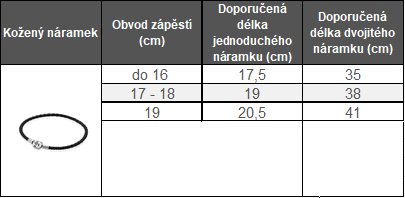 3278a113b Nejběžnější délka jednoduchého koženého náramku PANDORA je 18 cm. Kožený  náramek stačí o 0.5 cm větší než je obvod zápěstí, protože tyto náramky se  vytáhnou ...